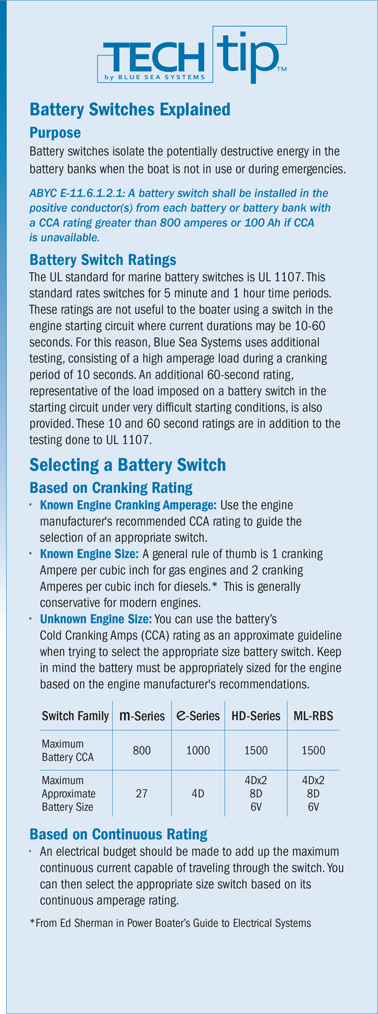 Infographic: Marine Battery Switches Explained