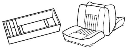 Back-to-Back Lounge Seat & Base