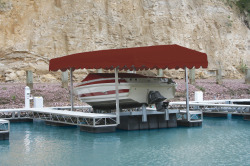 Hewitt Boat Lift Canopy Cover Flat Front