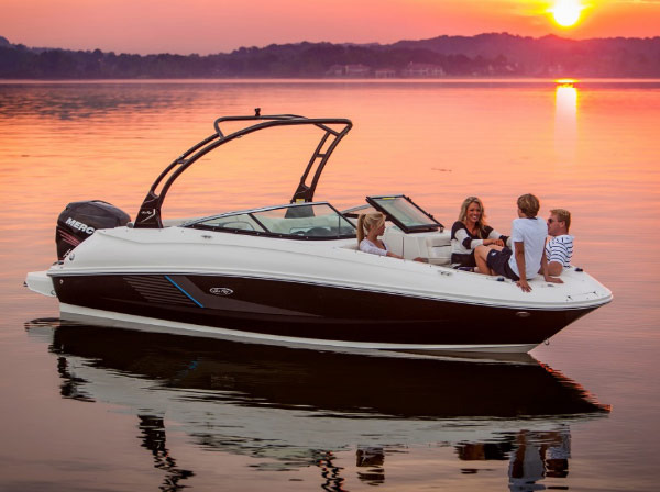 Enjoying a Beautiful Sunset From a Boat