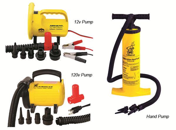 12v, 120v, and hand pumps