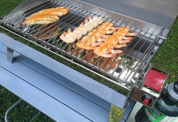 Gillling Srirach Shrimp Skewers